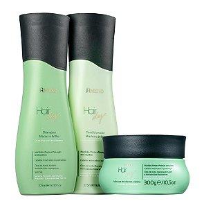 Amend Hair Dry Brilho e Maciez - Kit Shampoo Condicionador e Máscara