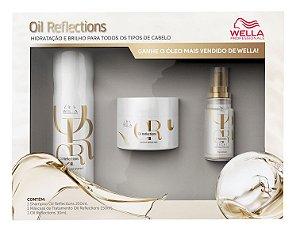 Wella Kit Oil Reflections Shampoo Máscara e Óleo Light 30ml