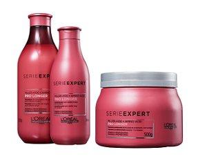 Loreal Serie Expert Pro Longer - Kit Shampoo Condicionador e Máscara Grande
