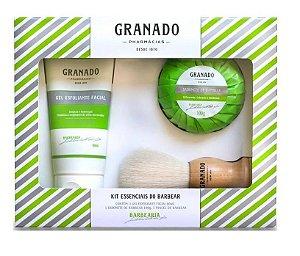 Granado Barbearia Kit Essenciais do Barbear 2 - Sabonete Pincel e Gel Esfoliante