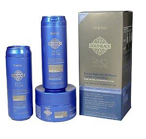 Kit Gold Black RCM System Q+ Shampoo Condicionador e Máscara