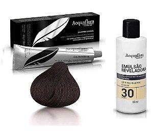 Acquaflora Kit Coloração 3.0 Castanho Escuro + Emulsão 30vol