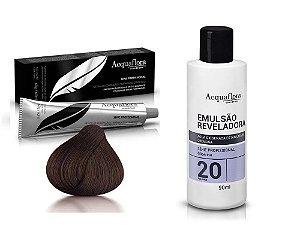Acquaflora Kit Coloração 4.0 Castanho Natural + Emulsão 20vol