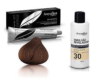 Acquaflora Kit Coloração 5.0 Castanho Claro + Emulsão 30vol