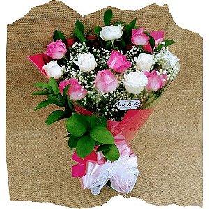Buquê 12 Rosas Encantado