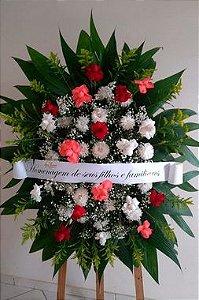 Coroa Fúnebre Rosas e Crisântemos