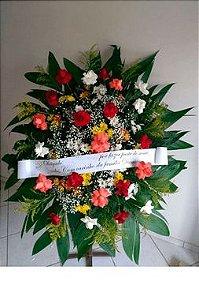 Coroa Fúnebre Rosas e Margaridas Mistas