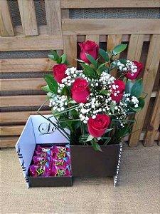 Surpresa de Rosas com Chocolate