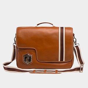 Bolsa para notebook Nordweg NW053 couro caramelo