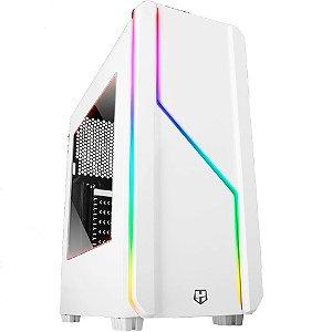 Gabinete gamer NOX Hummer MC Pro RGB Branco