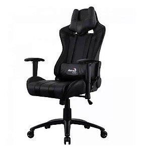 Cadeira De Escritório Gamer Aerocool Preta Couro Air-b Ac120c