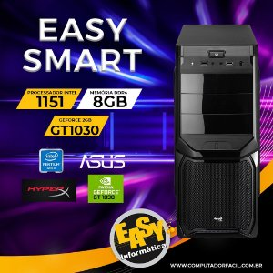 Pc Gamer Easy Smart - Dual Core Gold - 8Gb - SSD 240GB - Placa de vídeo 1030 2Gb