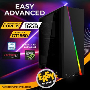 Pc Gamer Easy Advanced - Intel Core i5 9GH - 16Gb - SSD m.2 240GB - Placa de vídeo 1660 6Gb
