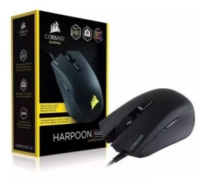 Mouse Gamer Corsair 6000dpi Rgb 6 Botões Preto Harpoon