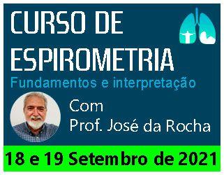 Curso de Espirometria dias 18 e 19 de setembro 2021