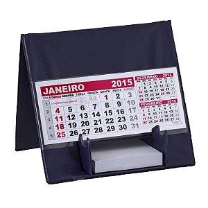 Calendário de mesa com suporte para rascunho