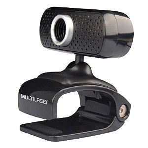 Webcam Plug e Play 480P Mic Usb Preto - WC051 - Multilaser