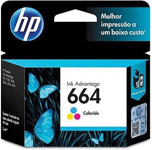 Cartucho Original HP 664 Colorido - F6V28AB
