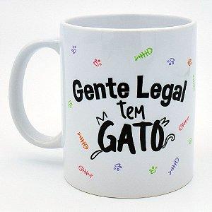 Caneca Gente Legal tem Gato