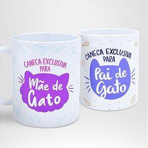 Kit Canecas Exclusivas para Mãe & Pai de Gato