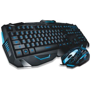 WARRIOR COMBO TECLADO E MOUSE AZUL TC195