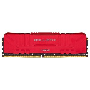 MEMÓRIA RAM CRUCIAL BALLISTIX 8GB DDR4 3000 MHZ CL15, UDIMM VERMELHO