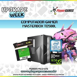 COMPUTADOR GAMER MASTERBOX TD500L RGB - INTEL I5 9ºGER GEFORCE GTX1650 16GB SSD 120GB H310 BIOSTAR FONTE 500W
