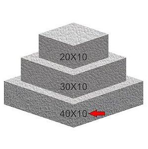 Base de Isopor Quadrada 40X10 Bolo Fake