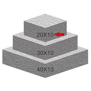 Base de Isopor Quadrada 20X10 Bolo Fake
