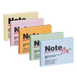 Blocos Adesivos 3M Note fix 76X102 Cores 100F