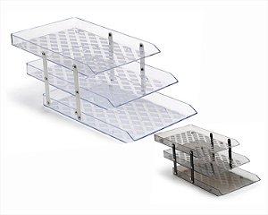 Caixa P/Correspondência Waleu Tripla Móvel Cristal/Fumê