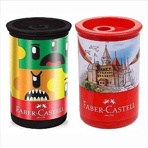 Apontador Simples Faber-Castell C/Depósito Substituível Cores Sortidas