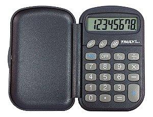 Calculadora De Bolso Truly 319A C/Capa C/8 Dígitos