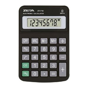 Calculadora De Mesa Zeta Zt718 C/8 Dígitos