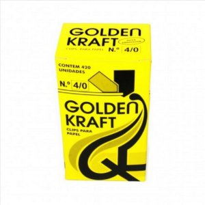 Clips P/Papel Golden Kraft N°4/0 500G