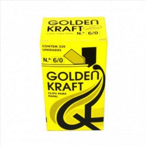 Clips P/Papel Golden Kraft N°6/0 500G
