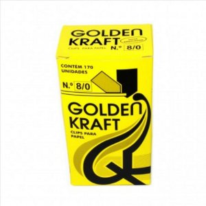 Clips P/Papel Golden Kraft N°8/0 500G