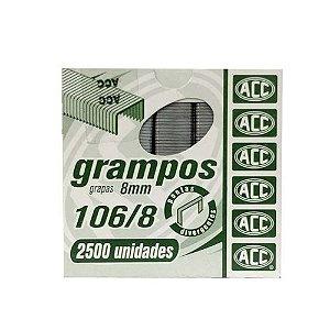 Grampos Acc Galvanizados 106/8 P/Grampeador 2500Und