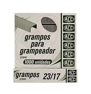 Grampos Acc Galvanizados 23/17 P/Grampeador 1000Und