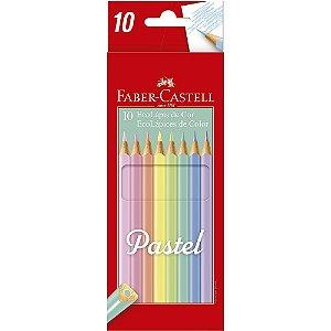 Lápis De Cor Faber Castell 10 Cores Pastel