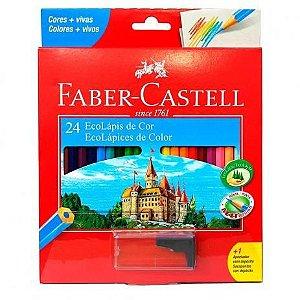 Lápis De Cor Faber Castell 24 Cores + 1 Apontador