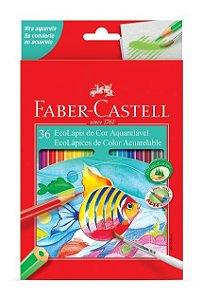 Lápis De Cor Faber Castell 36 Cores Aquarelavel