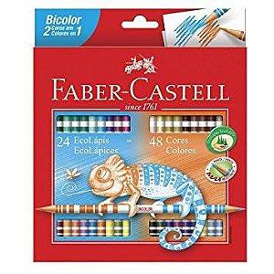 Lápis De Cor Faber Castell Bicolor 24/48 Cores