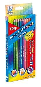 Lápis De Cor Tris Mega Soft 12 Cores Triangular