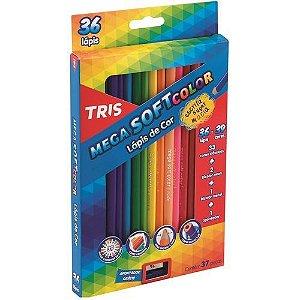 Lápis De Cor Tris Mega Soft 36 + 3 Cores