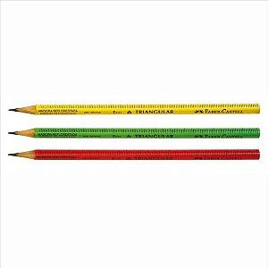 Lápis Preto Escolar Faber-Castell Régua Cores Sortidas