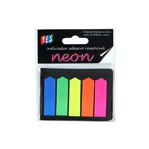 Marcadores De Página Yes Neon 48X12 C/5 Cores 20F