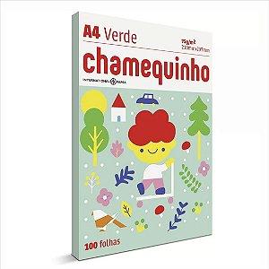 Papel Chamequinho 100F A4 75Gr Cor Verde