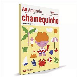 Papel Chamequinho 100F A4 75Gr Cor Amarelo
