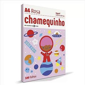 Papel Chamequinho 100F A4 75Gr Cor Rosa